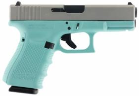 Glock PG1950203RES G19 Gen 4 Double 9mm Luger 4.01 15+1 Robin Egg Blue Interch