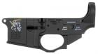 Spikes Lower Snowflake with Color Fill AR Platform Multi-Caliber Black - STLS030CE