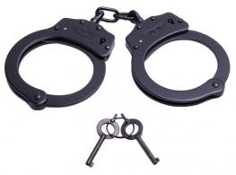 Uzi Accessories UZIHCCB Law Enforcement Chain Link Handcuff Black - UZIHCCB