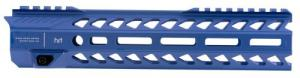 "Strike STRIKERAIL Strike Rail with M-Lok AR-15 Rifle Aluminum Blue Hard Coat Anodized 10"" - STRIKERAILBLU"