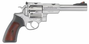 Ruger SUPER REDHAWK 10MM 6.5 Stainless Steel RUBBER/WOOD  - 5524