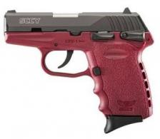 "SCCY Industries CPX1CBCR CPX-1 Double Action 9mm 3.1"" 10+1 Crimson Polymer Grip/Frame - CPX1CBCR"