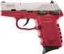 "SCCY Industries CPX1TTCR CPX-1 Double Action 9mm 3.1"" 10+1 Crimson Polymer Grip/Frame - CPX1TTCR"
