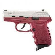 "SCCY Industries CPX2TTCR CPX-2 Double Action 9mm 3.1"" 10+1 Crimson Polymer Grip/Frame - CPX2TTCR"