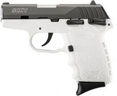 "SCCY Industries CPX1CBWT CPX-1 Double Action 9mm 3.1"" 10+1 White Polymer Grip/Frame Gr - CPX1CBWT"