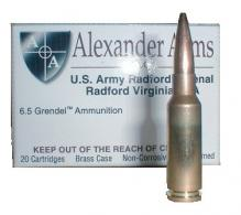 Alexander Arms 6.5 Grendel 129 Grain Super Shock Tip 20/Box - AG129SSTBOX