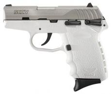 "SCCY Industries CPX1TTWT CPX-1 Double 9mm 3.1"" 10+1 White Polymer Grip/Frame Gr - CPX1TTWT"