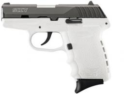 "SCCY Industries CPX-2 Double 9mm 3.1"" 10+1 White Polymer Grip/Frame - CPX2CBWT"