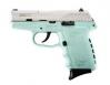 "SCCY Industries CPX2TTSB CPX-2 Double 9mm 3.1"" 10+1 Robin Egg Blue Polymer Grip"