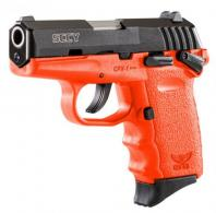 "SCCY Industries CPX1CBOR CPX-1 Double 9mm 3.1"" 10+1 Orange Polymer Grip/Frame G - CPX-1CBOR"