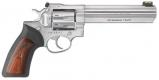 Ruger GP100 357 6IN 7RD Stainless Steel Black RBR/WD - 1773