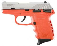 "SCCY Industries CPX1TTOR CPX-1 Double 9mm 3.1"" 10+1 Orange Polymer Grip/Frame G - CPX-1TTOR"