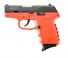 "SCCY Industries CPX2CBOR CPX-2 Double 9mm 3.1"" 10+1 Orange Polymer Grip/Frame G"