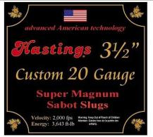 "Hastings 20 Ga. 3 1/2"" 15/16 oz, Sabot Slug - HMS2035"