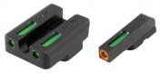 Truglo TG13TA2PC TFX PRO Taurus Mil/Slim Green Tritium/Fiber Optic w/Orange Ou - TG13TA2PC