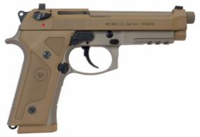 Beretta USA J92M9A3 M9 Italy Type F Single/Double Action 9mm 5 10+1 Flat Dark E - J92M9A3