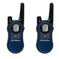 Motorola Blue 2-Way Rechargeable Radios w/14 Mile Range - SX600R