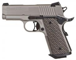 "Sig Sauer 1911UT45NI 1911 Ultra Compact Single 45 Automatic Colt Pistol (ACP) 3.3"" 7+1 Brown G10 Grip Nickel PVD Stainless Steel - 1911UT45NI"