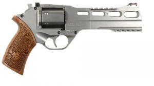 "Chiappa Firearms 340224 Rhino 60DS Single/Double 357 Magnum 6"" 6 Walnut Chrome - 340224"