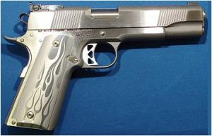 Dan Wesson 7 + 1 Round 45 ACP w/Stainless Finish/Silver Flam - 01956