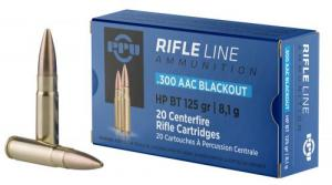 PPU PP300BH Standard Rifle .300 Black  (7.62x35mm) 125 GR Hollow Point Boat Tail 20 Bx/ 50 Cs - PP300BH