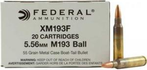 Federal 5.56 Remington 55 Grain Metal Case Boat-Tail, 20 rds