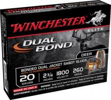 "Win SSDB20 Supreme Elite Dual Bond 20 GA 2.75"" 260 Gr Sabot Slug"