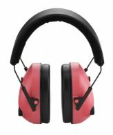 Champion Pink Adjustable Electronic Earmuffs - 40975