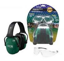 Howard Leight Green Earmuffs & Clear Shooting Glasses - R01761