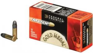 Federal Premium Gold Medal Match 40 Grain Solid 22LR