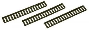Falcon Industries Inc 3 Pack OD Green Low Profile Rail Cover 18 Slot - 4373OD
