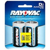 RayoVac 2 Pack Carded Alkaline D Cell Batteries - 8132D