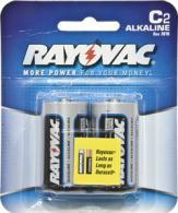 RayoVac 2 Pack Carded Alkaline C Cell Batteries - 8142D