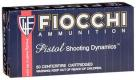 Fiocchi 40 S&W 165 Grain Jacketed Hollow Point - 40SWC