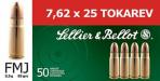 Magtech SELLIER BELLOT 7 62mmX25mm Tokarev Full Metal Jack