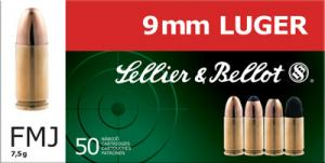 SELLIER & BELLOT 9mm Jacketed Hollow Point 115 GR 12