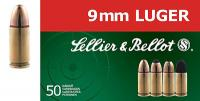 SELLIER & BELLOT 9mm Full Metal Jacket 124 GR 1200 f