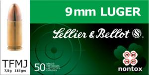 SELLIER & BELLOT 9mm Full Metal Jacket 115 GR 1300 f