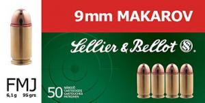 Magtech SELLIER BELLOT 9mmX18mm Makarov Full Metal Jacket