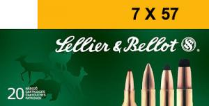 SELLIER & BELLOT 7mmX57mm Mauser Soft Point 139 GR 2 - V330902U