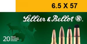 SELLIER & BELLOT 6.5mmX57 Soft Point 131 GR 2519 fp - V330622U