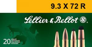 SELLIER & BELLOT 9.3mmX72R Soft Point 193 GR 1700 fp - V332102U