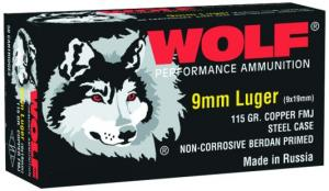 Wolf 9MM 115 Grain Full Metal Jacket - CASE
