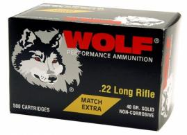 Wolf 22LR 40 Grain Round nose 5000 rounds