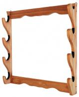 Allen 18550 Four Gun Wooden Wall Rack - 18550