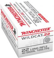 Winchester Ammo WW22LR Wildcat 22 Long Rifle 40 GR Lead Round Nose 50 Bx/ 100 C