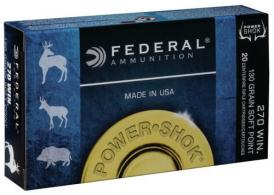 Federal 270A Power-Shok Soft Point 20RD 130gr 270 Winchester - 270A