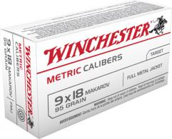 Winchester 9X18MM Makarov Metric 95 Grain Full Metal Jacket