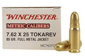 Winchester 7 62X25MM Tokarev Metric 85 Grain Full Metal Jack