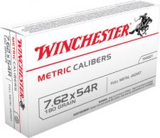 Winchester 7.62X54 Russian Metric 180 Grain Full Metal Jacke